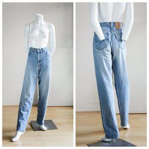 Vintage Levis 550 Light Wash Distressed Mom Jeans